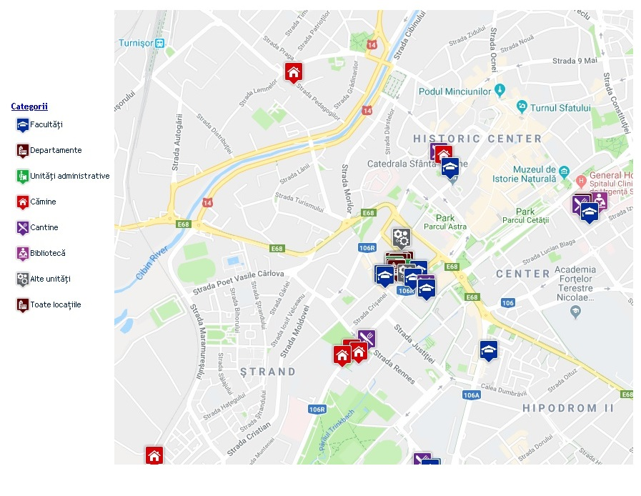 Harta locatii ULBS