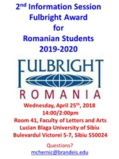 2019-2020 Fulbright Student Award: 2nd Information