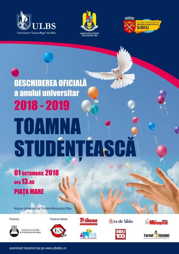 Toamna studențească – deschiderea oficială a noului an universitar 2018/2019