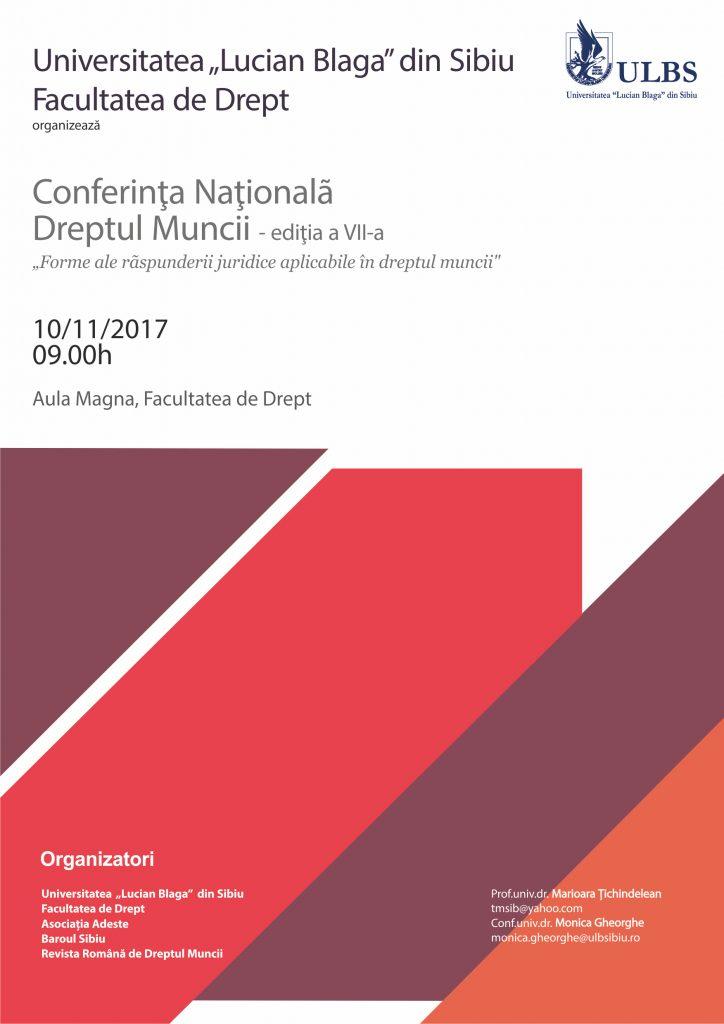 Conferința națională de Dreptul muncii