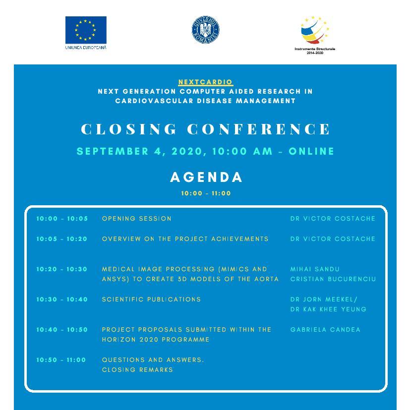 NEXTCardio – Conferință de închidere