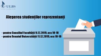 Alegerile studenților reprezentanți în ULBS