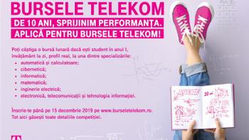 Burse de excelenţă pentru studenți, oferite de TELEKOM
