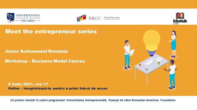 Workshop Business Model Canvas. Meet the entrepreneur series