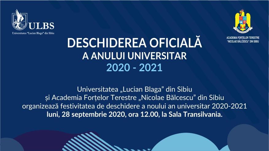 Deschiderea noului an universitar