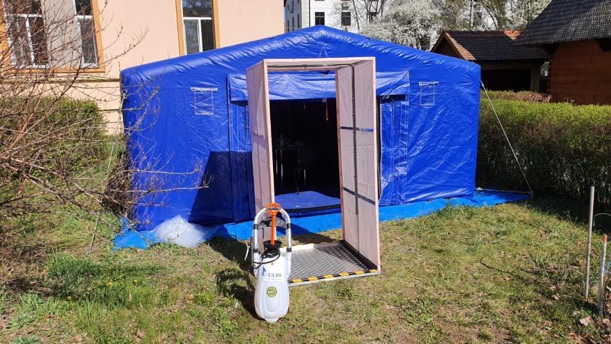 COVID-19 Stație pentru decontaminare donată Spitalului Clinic Județean
