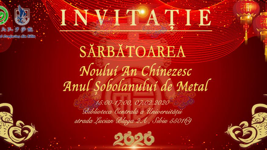Invitație – Sărbătoarea Noului An Chinezesc