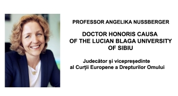HONORIS CAUSA – profesor ANGELIKA NUSSBERGER