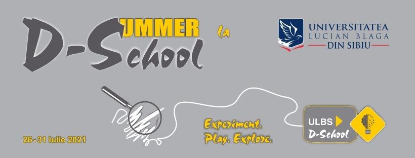 Prezentări online în timpul evenimentului dSummer@ULBS D-School