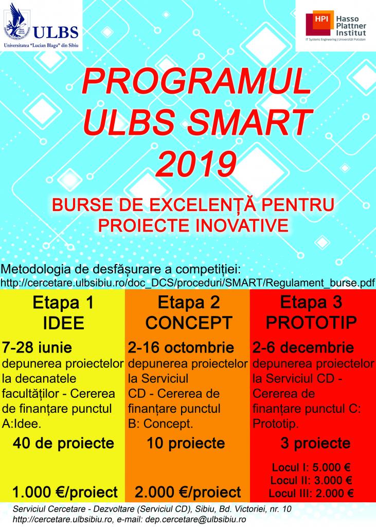 Program de proiecte și soluții inovative studențești – ULBS SMART