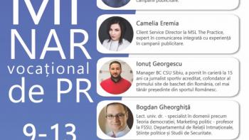 Specialiști în comunicare vin la prima ediție a Seminarului vocațional de PR