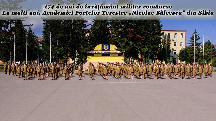 Aniversarea a 174 de ani de învățământ militar românesc