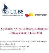 "Conferința ""Acces la literatura științifică"""