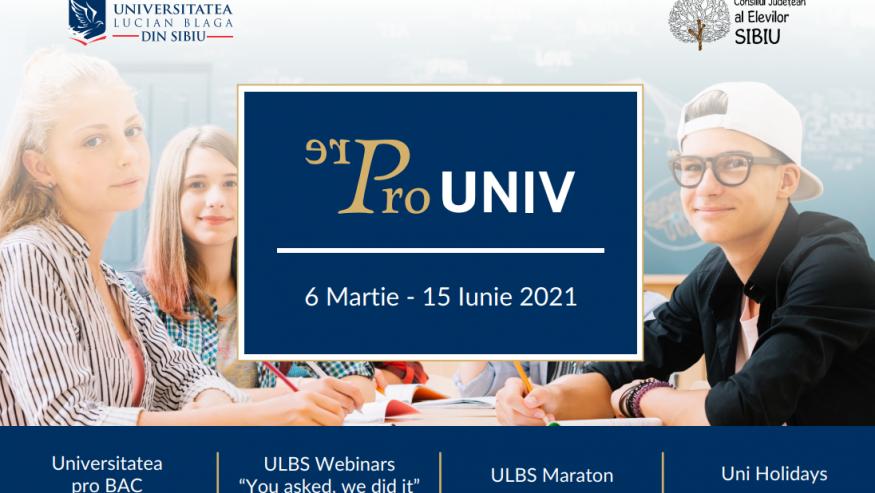 """Programul """"PRE-universitate/ PRO-universitate"""""""