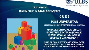 Program de studii postuniversitare în domeniul afacerilor specifice mediului industrial internațional, derulat de ULBS