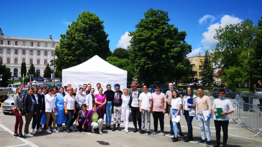 Festivitatea de înmânare a diplomelor de voluntar studenților implicați în campanii împotriva pandemiei de Covid-19