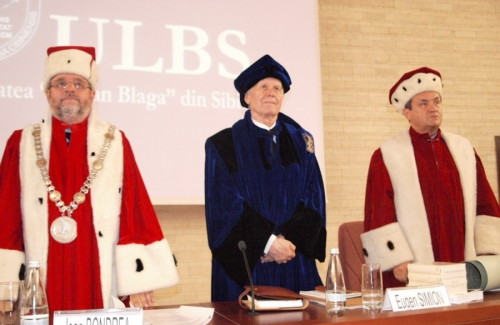 Awarding the title of Doctor Honoris Causa Acad. Prof. univ. Dr. Eugen Simion