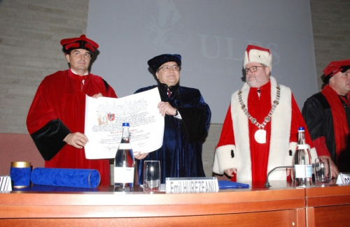 Awarding the title of Doctor Honoris Causa E.S. EMIL Hurezeanu