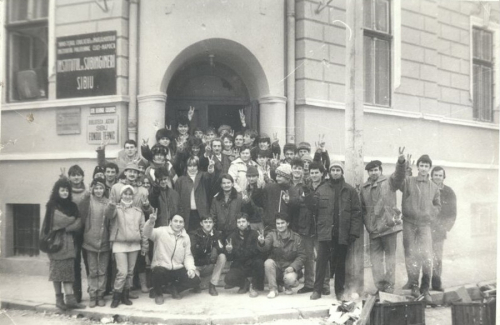 Studenti Revolutionari la Institutul de subingineri 1989